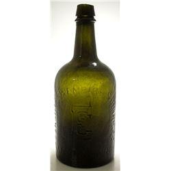 Dark Green Congress & Empire Spring Co. Water Bottle