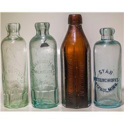 Three Hutch Sodas and an Amber Soda