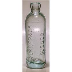 Quebec Aqua Hutch Soda Bottle