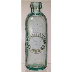 J.A. Wallis and Son Soda Bottle, St. John, New Brunswick