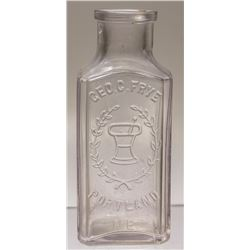 Geo. C. Frye Drug Store Bottle, Portland, Maine