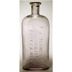 F. J. Schneider Druggist Bottle, Eureka, Nevada