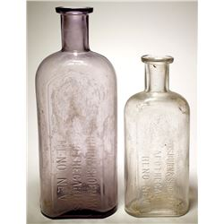 Two Osburn & Shoemaker Apothecaries Bottles, Reno, Nevada
