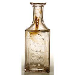 A. M. Cole Apothecary Bottle, Virginia City, Nevada