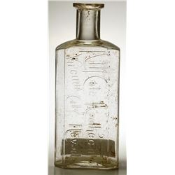 A. M. Cole Apothecary (Script) Bottle, Virginia City, Nevada