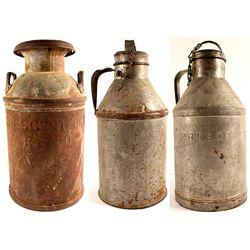 3 Reno, NV Milk Cans