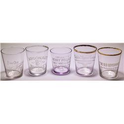 5 Clear Shot Glasses