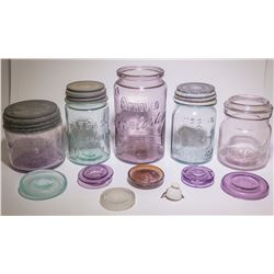 Five Canning Jars