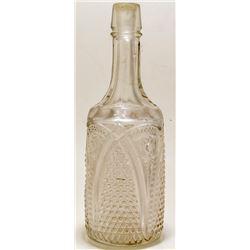 Pressed Glass Decanter/Backbar Bottle
