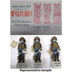 Cyrus Noble Miner's Miniature Decanters from McGill Club, NV