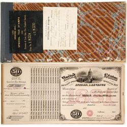 Dakota Territory Special Tax Stamps for Brewers