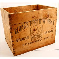 Gloag's Perth Whisky, Grouse Brand, Wood Crate