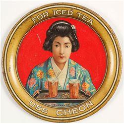 Cheon Iced Tea Advertising Tray