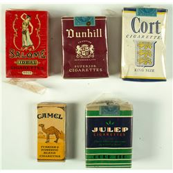 5 Vintage Unopened Cigarette Packs