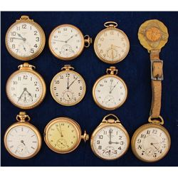 10 Vintage Elgin Pocket Watches
