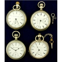 Four Vintage Elgin National Watch Co. Pocket Watches