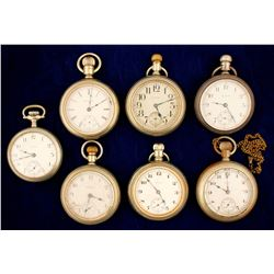 7 Vintage Elgin Men's Pocket Watches