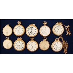 10 Vintage Hamilton Pocket Watches
