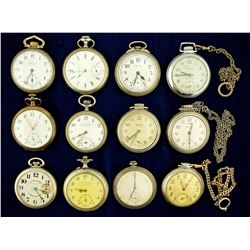 12 Vintage Men's Pocket Watches
