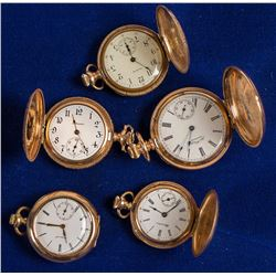 5 Gold Ladies Pocket Watches