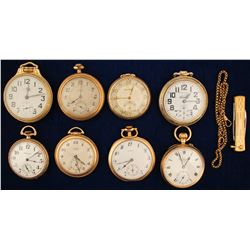 8 Vintage Men's Pocket Watches