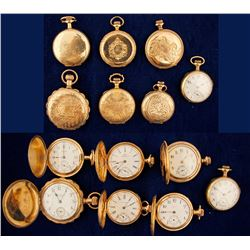 Seven Gold Ladies Pocket Watches