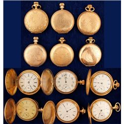 Six Vintage Ladies Gold Pocket Watches