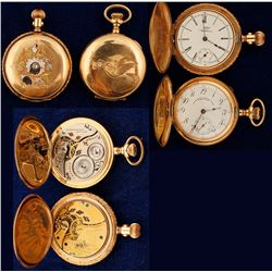 Two Gold Ladies Pocket Watches