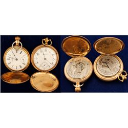 Two Vintage Waltham Men's Pocket Watches