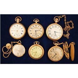 6 Waltham Pocket Watches