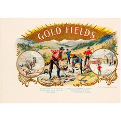 "Strikingly Colorful Alaska Advertising Piece called ""Gold Fields"""