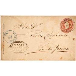 Tucson to Fuente, Yuma via Franco en el Altar Postal History