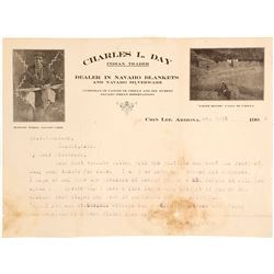 Charles L Day Indian Reader Letter (Chin Lee, Arizona)
