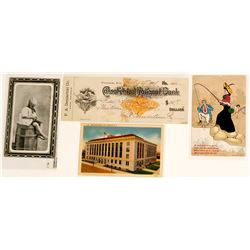 Fairbank, AZ Postcards and a Check