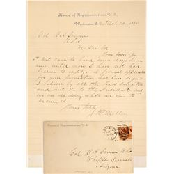 Letter to Colonel Grierson who Organized 1 of 2 Buffalo Soldier Cavalry Units, Fort Whipple, Arizona