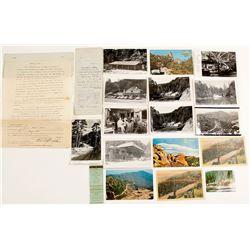 Mt. Lemmon, AZ Postcards with RPC's (15) and Ephemera