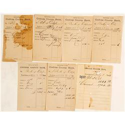 Bank of California Cochise County Bank Deposit Slips (7)