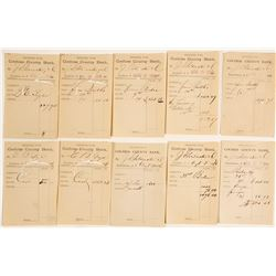 Cochise County Bank Deposit Slips from EB Gage & J Goldwater (9)