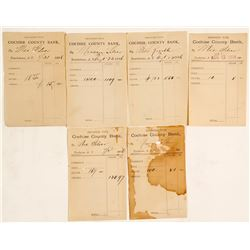 Cochise County Bank Mexican Silver Deposit Slips (6)