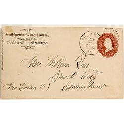1880s Tucson Cover to Mrs. William Ross