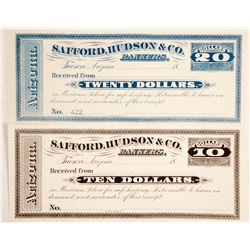 Tucson, Arizona Certificates of Deposit In Mexican Silver