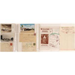 Willcox, AZ Postcards and Ephemera
