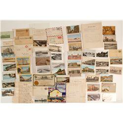 Large Yuma, AZ Postcard and Postal Cover Collection