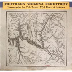 Map of Northern Arizona Territory, c.1875
