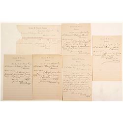 George W Penter, Banker, Bodie, CA Collection