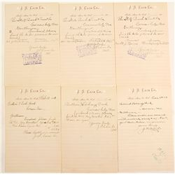 J. S. Cain 1/2 Sheet Letterhead Collection
