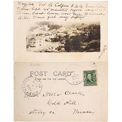 1906 Colfax, California Birds-eye View Real Photo Postcard