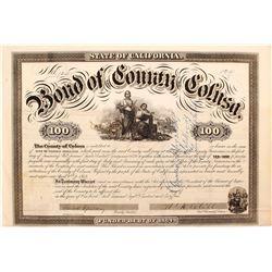 1864 Bond of County of Colusa