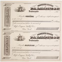 PA Lamping and Co. Original and Duplicate of Exchange