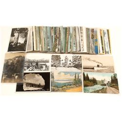 75 Lake Tahoe Postcards - 16 RPC's
